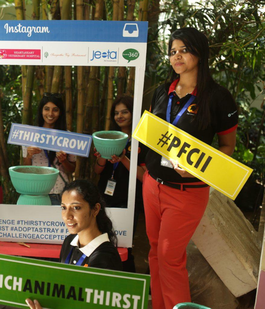 Suchitra S Rao @ her brainchild, PFCI Water Bowl Challenge campaign