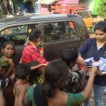 Suchitra S Rao distributing relief supplies to People during Chennai Floods 2015
